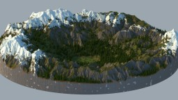 1K-Diameter mountain 'arena' Minecraft