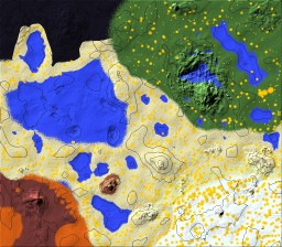 My first attempt at terraforming  1024x869 blocks Minecraft Map & Project