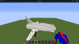 Passenger Airplane Potipol 14*61*17 (with wings: 25x61x55) Minecraft Map & Project