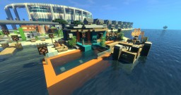 Beach Villa In Blockton City! Minecraft Map & Project