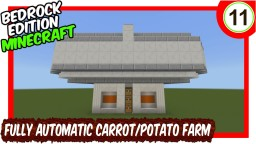 Bigger Simple Carrot & Potato Farm Bedrock Edition Minecraft Map & Project