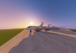 .5:1 Mega Line-up with Boeing, Airbus Minecraft Map & Project
