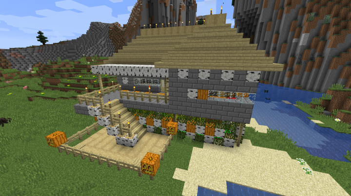 Survival Plains with Starter House - 1 13 Map Minecraft Project
