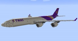 F'n'A Gaming Airbus A340-500 Thai Airways Minecraft Map & Project