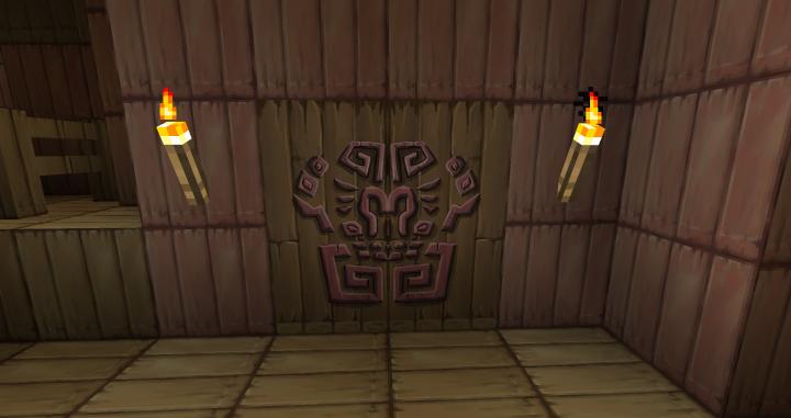 Forsaken Fortress door made with glazed terracotta