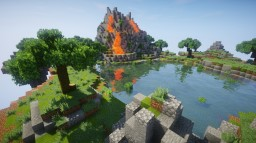 Minecraft Floating Volcano Island!! Minecraft Map & Project