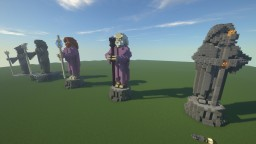Statues of Wizards holding a Staff Minecraft Map & Project