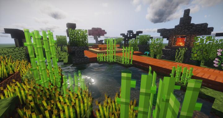 Zen Garden Ideas + Schematic and Map Minecraft Project