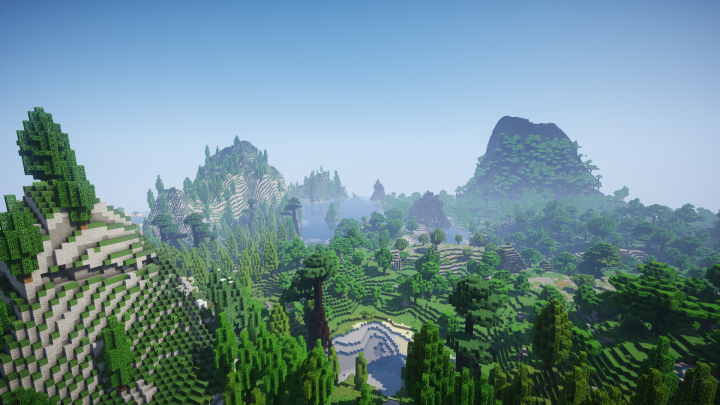 One of the many beautiful custom generated biomes!