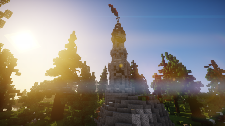 One of the hundreds of structures that can be found, conquered, and looted! This ones an outpost tower!