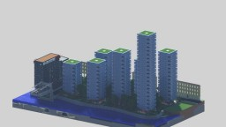 Port City Residential Towers Minecraft Map & Project
