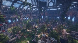 Forest township and temple Minecraft