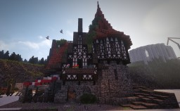 Fantasy Medieval Market Place Buildings! #WeAreConquest Minecraft Map & Project