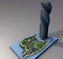 Dynamic Tower, Dubai Minecraft