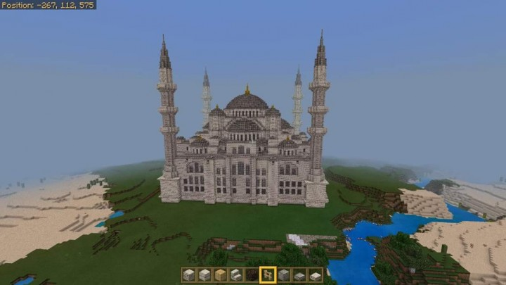 Realms Server View Ottoman Blue Mosque Minecraft Project