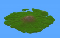 Volcanic Island - 2048 x 2048 Custom Map Minecraft Map & Project