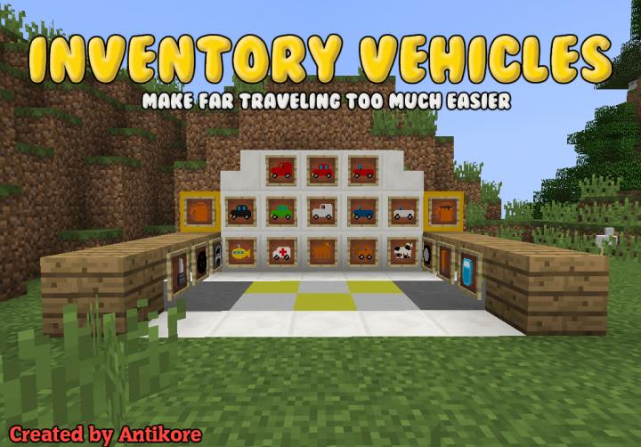 Popular Mod : Inventory Vehicles v1.2.0 [MC 1.12.2]