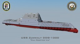 USS Zumwalt DDG-1000 Minecraft Map & Project