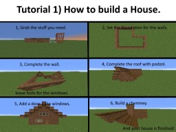 How to build a house Minecraft Map & Project