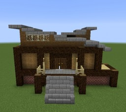 Slanted Roofed House Minecraft Map & Project