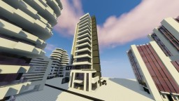 """Modernism Skycraper"" By ClemsDX - Schematic Minecraft"