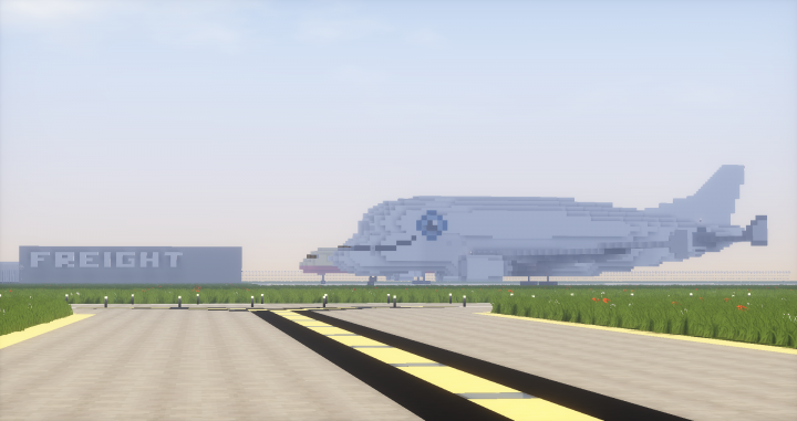 Freight terminal with Airbus Beluga XL