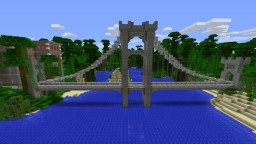 Suspension bridge on the beach Minecraft Map & Project