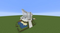 3 Floor Modern House With Aquarium Minecraft Map & Project