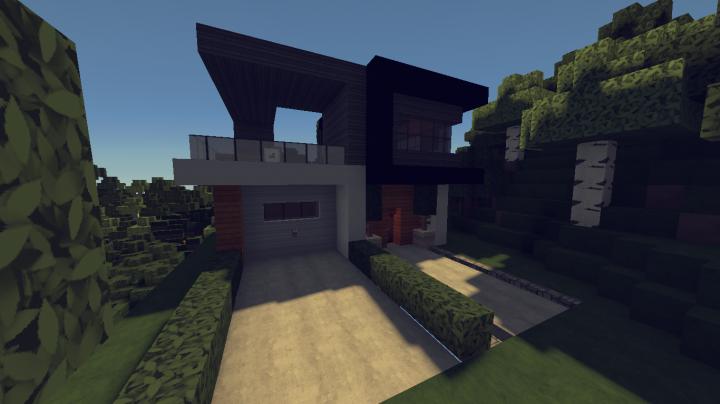 Minecraft Modern House Garage 3