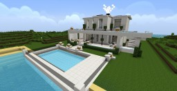 white modern house by ninjakiller160 Minecraft Map & Project