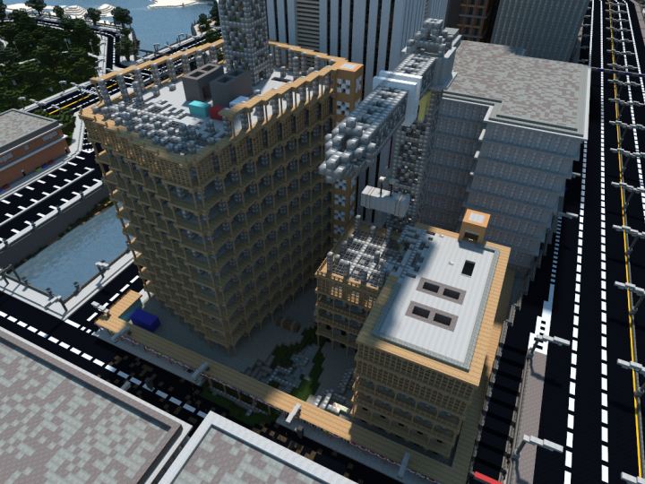 Popular Server Project : Under Construction Office Buildings | Mineopolis and the Countryside