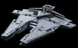 Imperial Harrower-class Dreadnought (No Interior) Minecraft Map & Project
