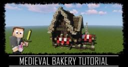 Medieval Rustic Bakery + interior + schematic Minecraft
