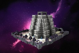 The Skyscraper of Ríkeënblákflä (Alien Planet) Minecraft Map & Project