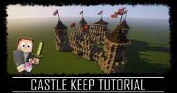 Castle Keep Kings Hall Medieval Rustic Build + Schematic. Minecraft Map & Project