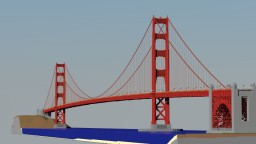 Golden Gate Bridge 1:1 scale Minecraft Map & Project