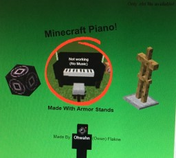 Piano with Seat Minecraft Blog Post