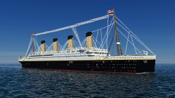 RMS TITANIC with full interiors and WorldSave Minecraft Map & Project
