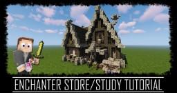 Medieval Rustic Enchanter Study/Store + Interior + Schematic Minecraft