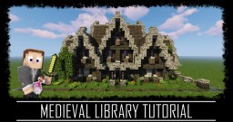 Medieval Rustic Library + Interior + Schematic Minecraft