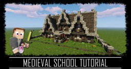 Medieval Rustic School + interior + schematic & map Minecraft Map & Project