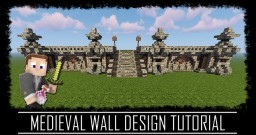 Medieval Rustic wall design + schematic Minecraft Map & Project