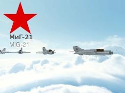 Mikoyan-Gurevich MiG-21 Minecraft