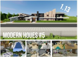 Modern House [1.13] #5 | Full Interior | Legoman0416 | Download | Minecraft Map & Project