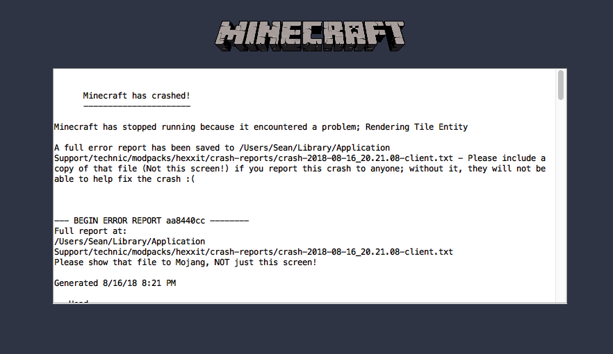 Hexxit world keeps crashing! NEED HELP ASAP! Minecraft Blog