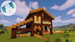 Colour-Coded Sheep Pen/Barn with tutorial Minecraft Map & Project