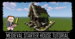 Humble Medieval Rustic Starter House + Interior + Schematic Minecraft Map & Project