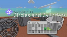 Minecraft 1.13 Worldedit Vanilla Circles and Cylinders Download | Datapack Minecraft