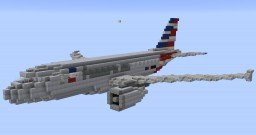 F'n'A Gaming Airbus A319 American Airlines Minecraft Map & Project