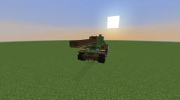 Soviet BT-7 (Light Cavalry Tank) Minecraft Map & Project